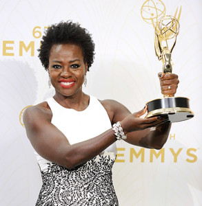 Actress Viola Davis with her Emmy from the 67th annual Primetime Emmy Awards